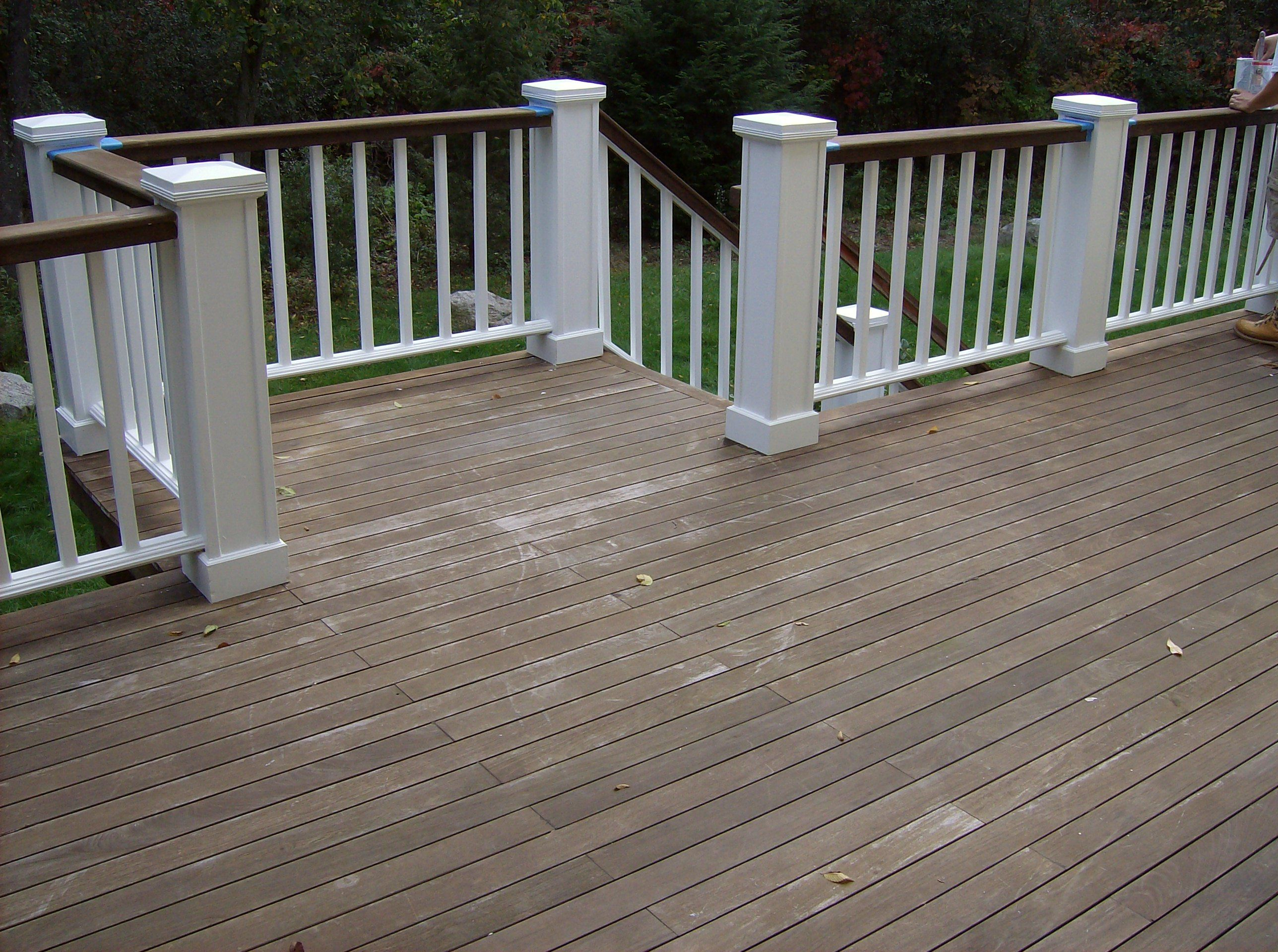 Love The Idea Of Painting Top Railing Slightly Darker Color Than intended for measurements 2576 X 1920