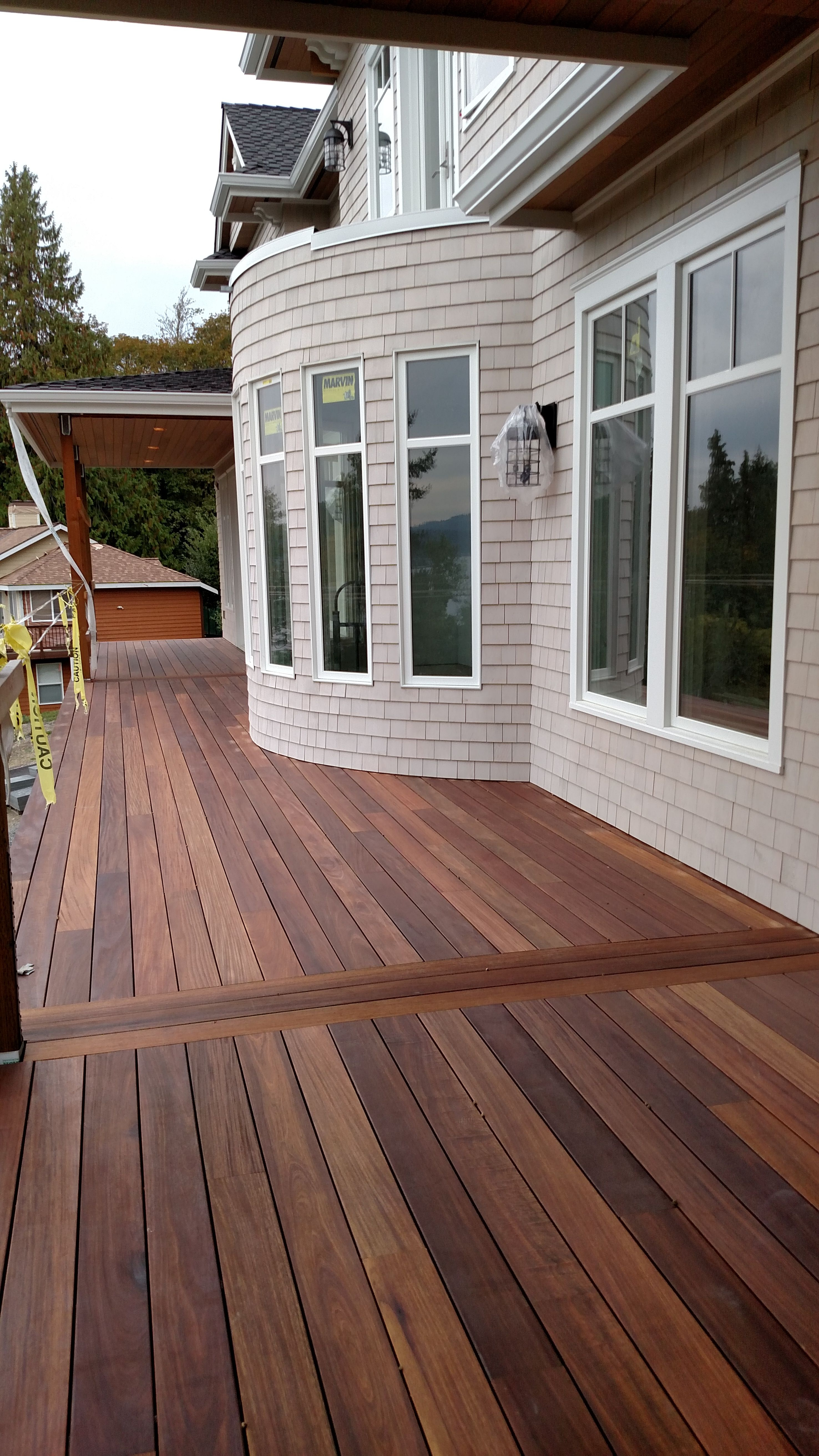 Mahogany Decking Applied With Penofin Exotic Hardwood Exterior Stain for proportions 2952 X 5248
