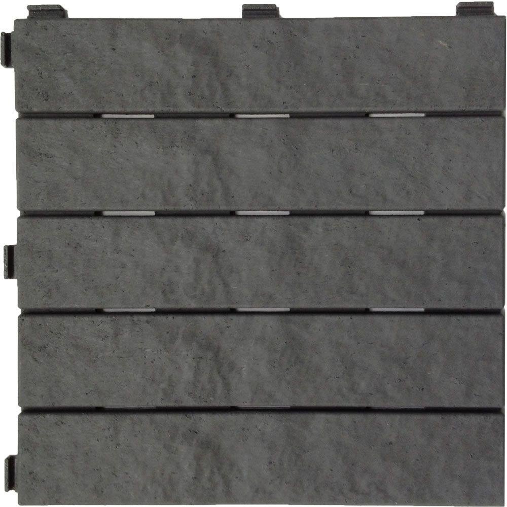 Multy Home 12 In X 12 In Rubber Slate Deck Tile 6 Pack Mt5100012 for sizing 1000 X 1000