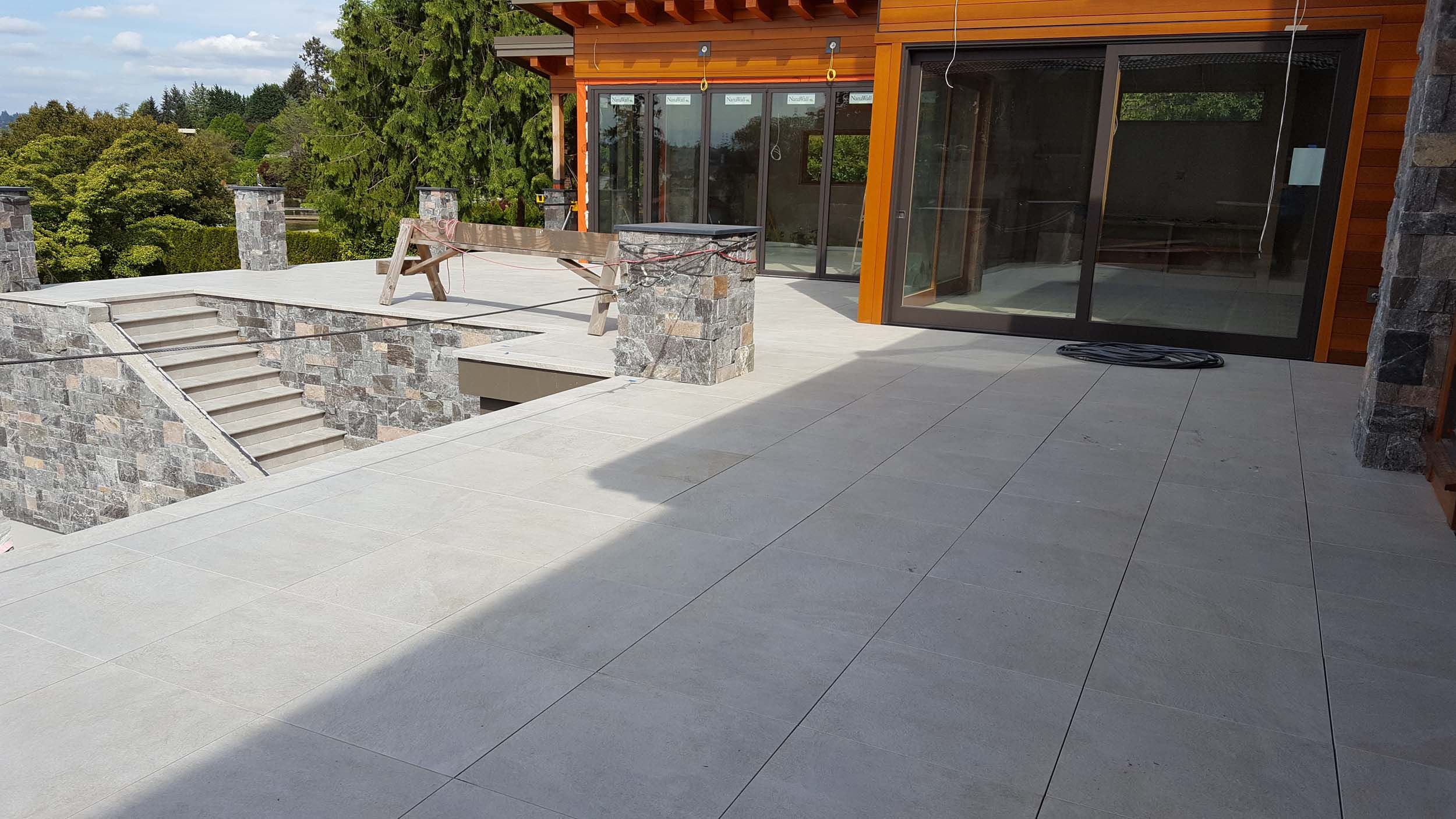 Porcelain Deck Tiles Installed On Patio In Seattle Pedestal Pavers within size 2500 X 1406