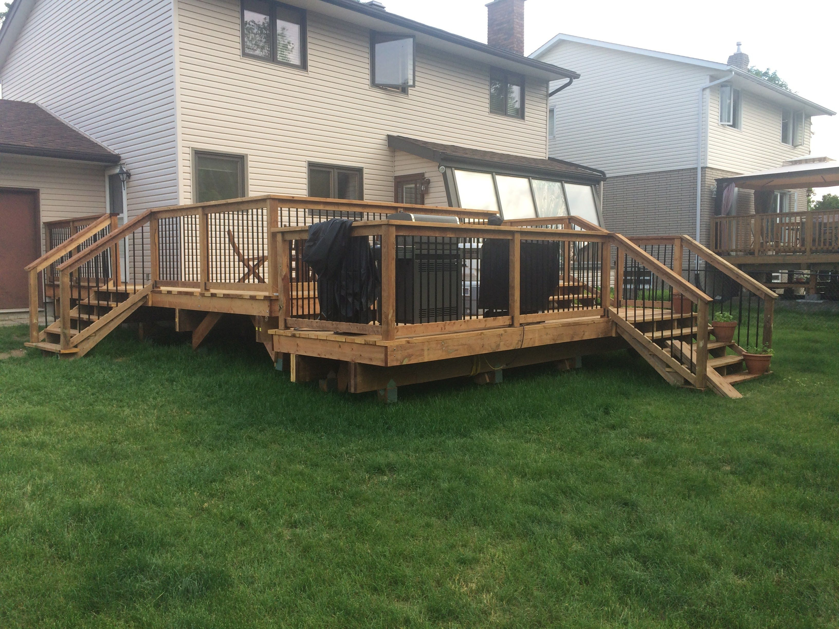 Repost Of A New 20x20 Two Tier Deck Quickcrafter Best Of Diy with measurements 3264 X 2448