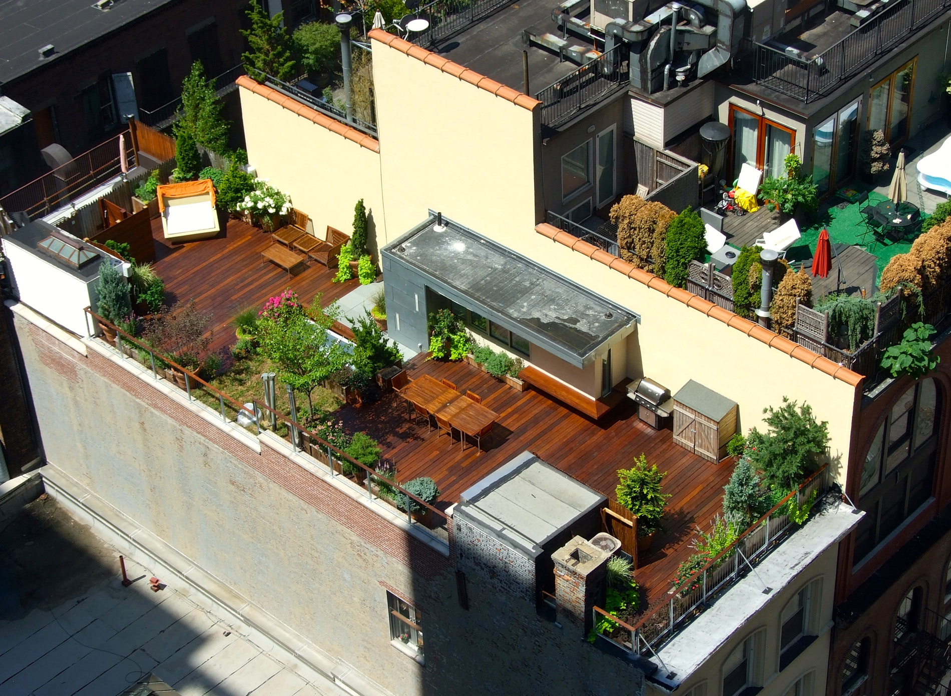 Rooftop Terrace Decks All Decked Out with regard to proportions 1900 X 1391