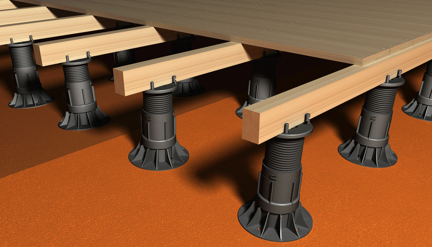 Self Levelling Decking Pedestals Adjustable Paving Feet Ryno Group in proportions 1440 X 823
