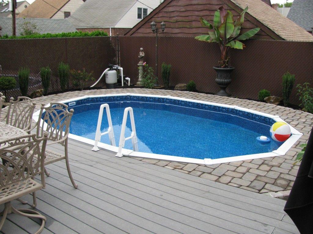 Semi Inground Pools With Decks Concrete Floor Panels With Semi with regard to size 1024 X 768