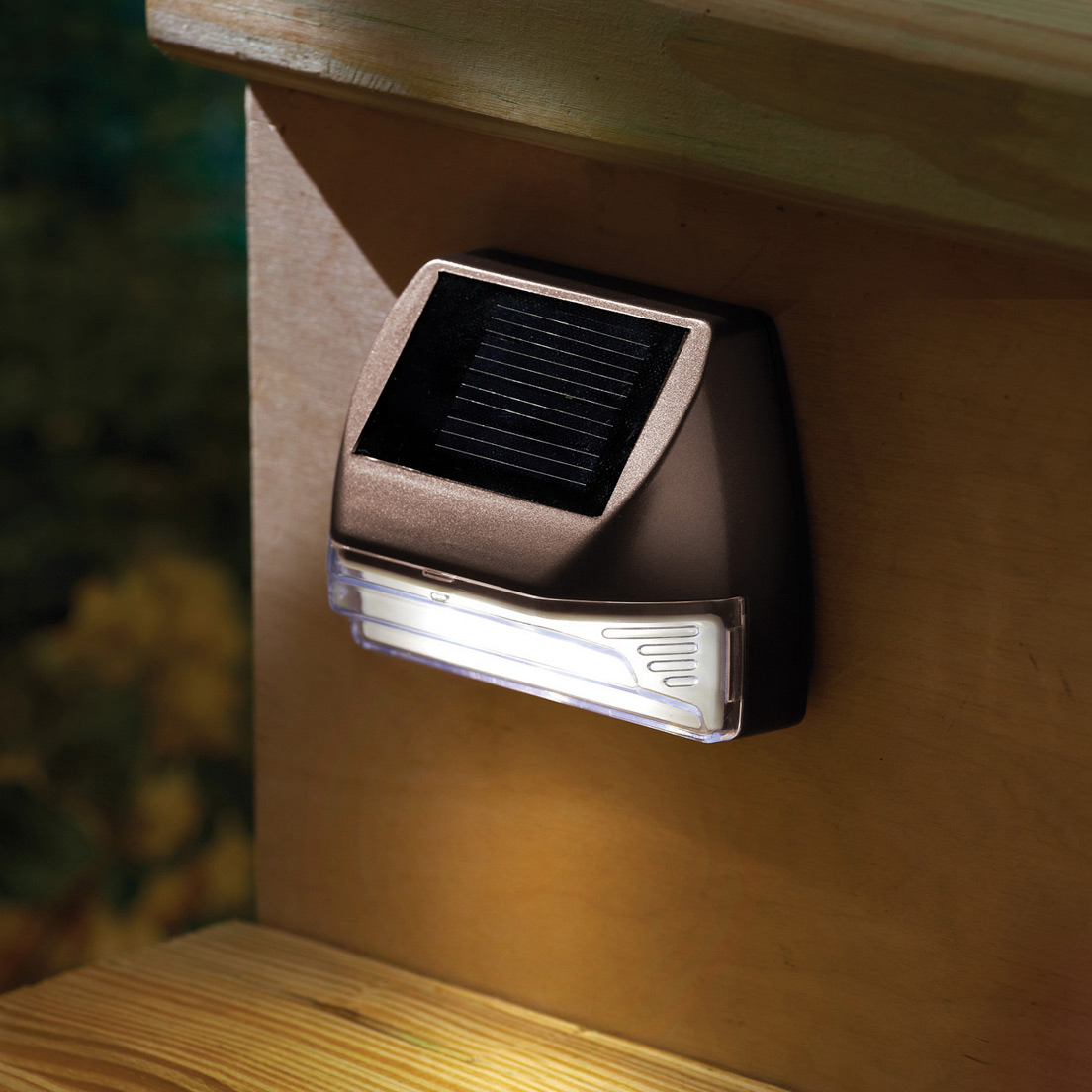 Solar Deck Post Lights Set Of 4 Solar Powered Lights Exterior regarding sizing 1104 X 1104