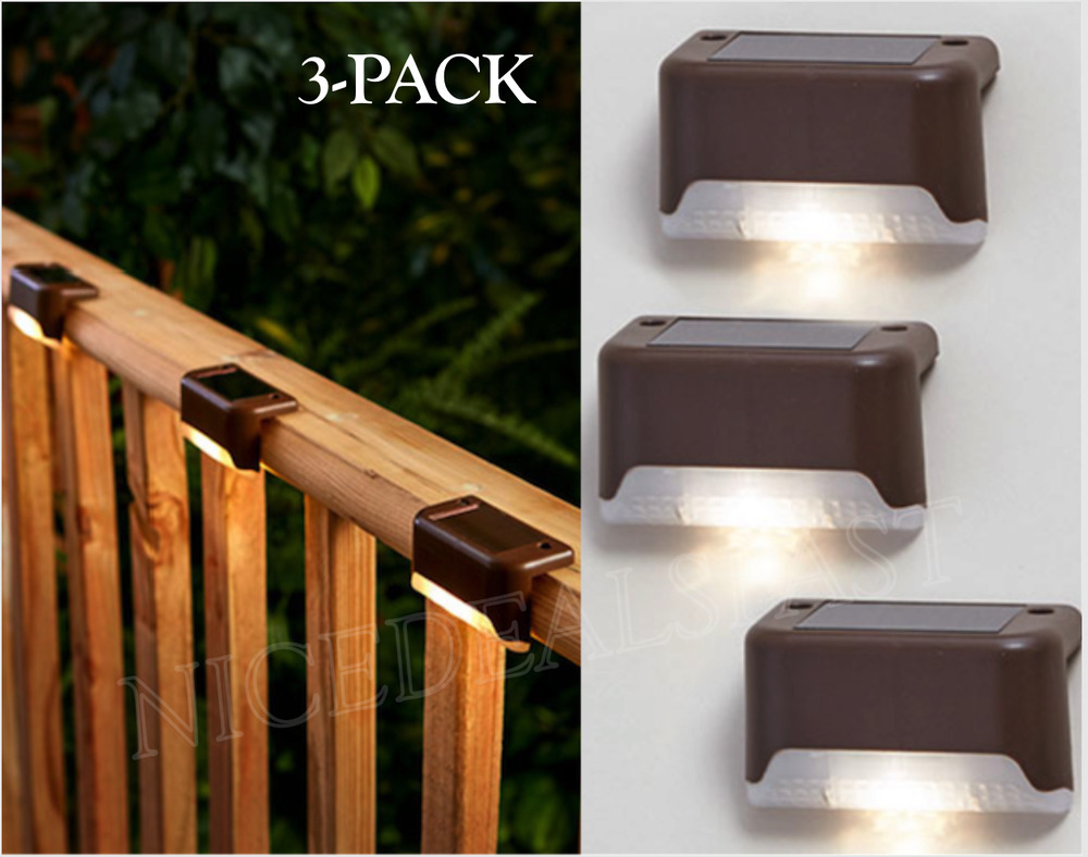 Solar Powered Deck Railing Outdoor Automatic Patio Lights Fence for sizing 1000 X 788