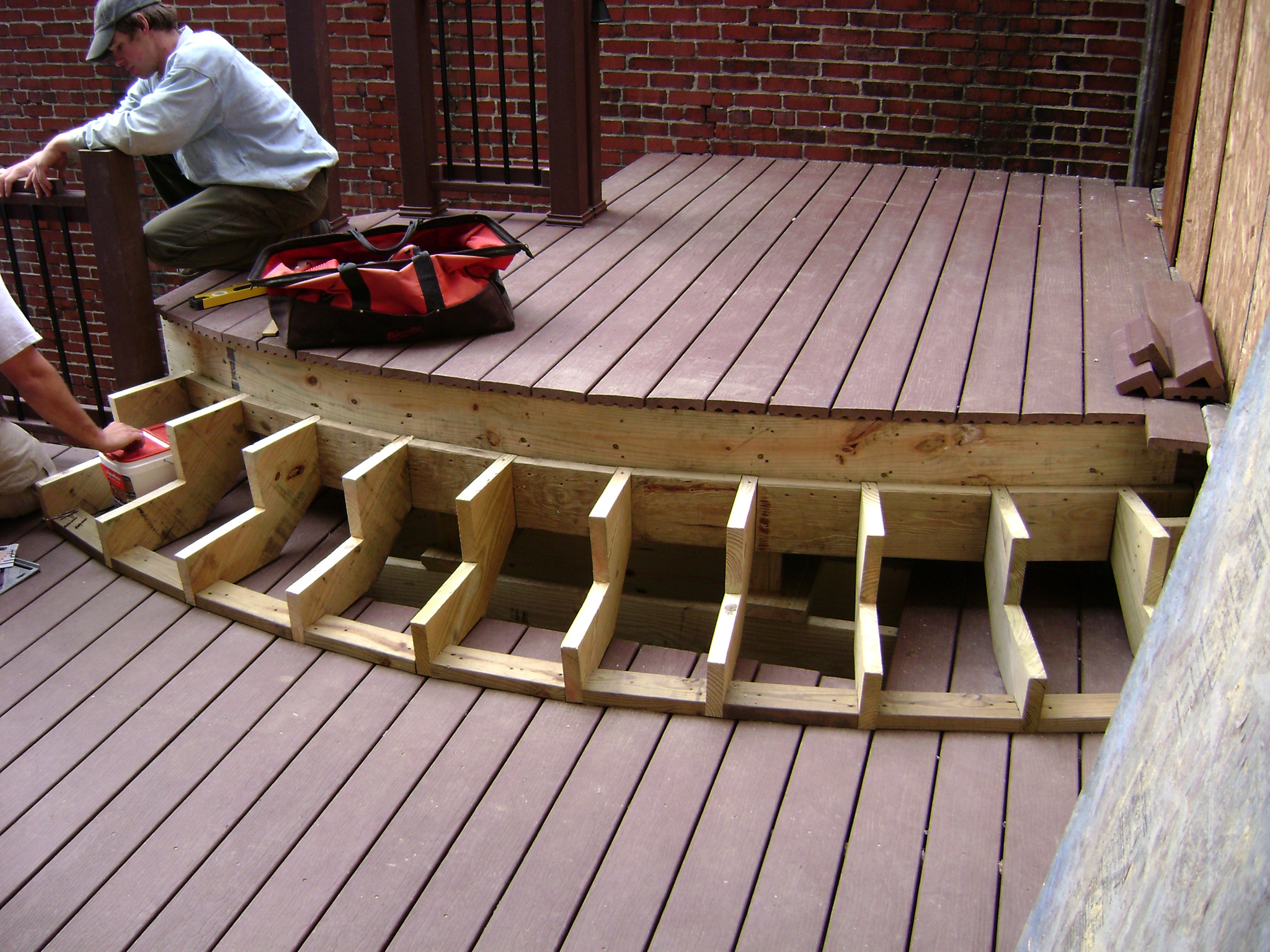 Spacing Between Composite Deck Boards As Well Of Trex With Gap Plus for proportions 2048 X 1536