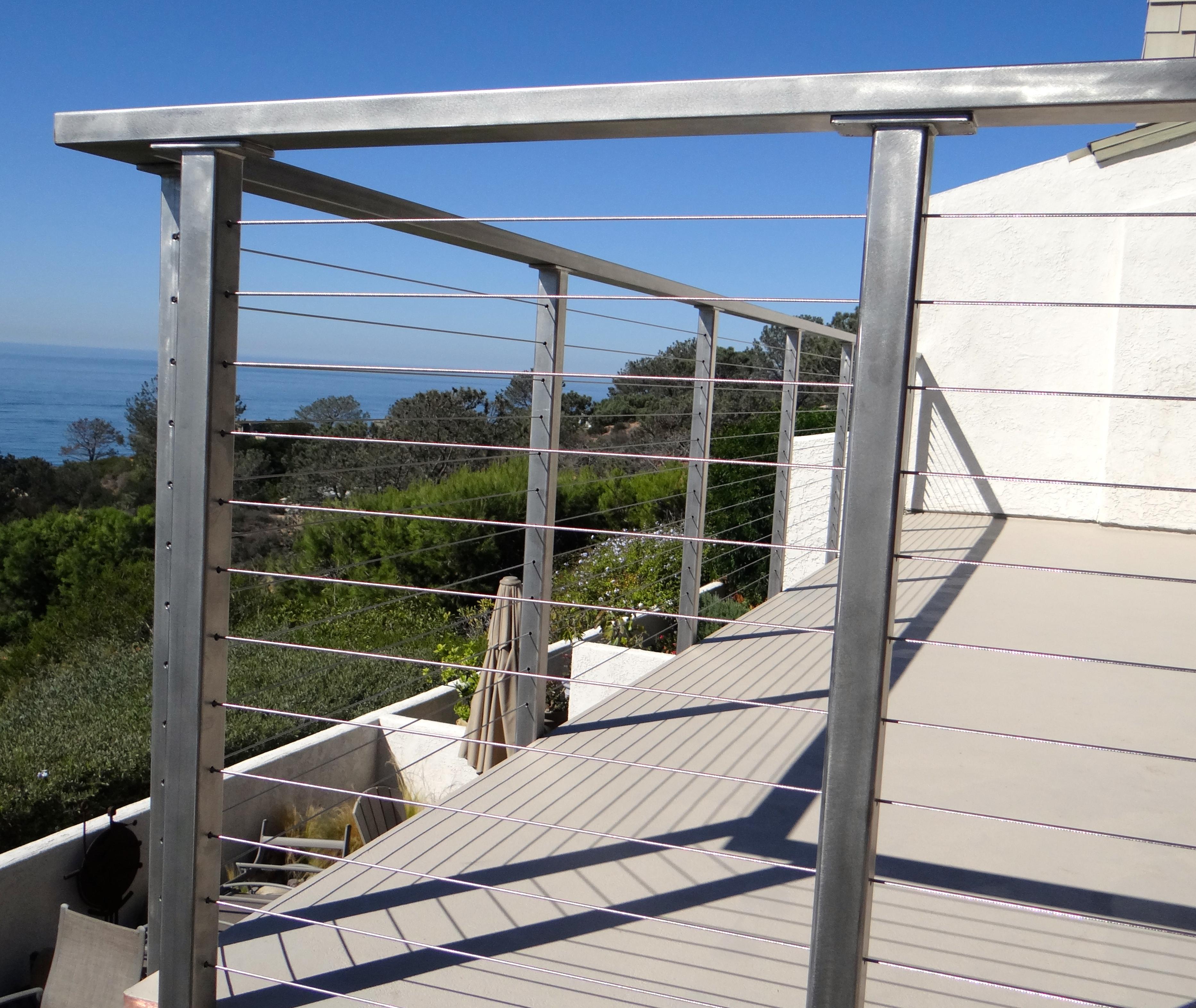 Metal Cable Railings For Decks • Bulbs Ideas