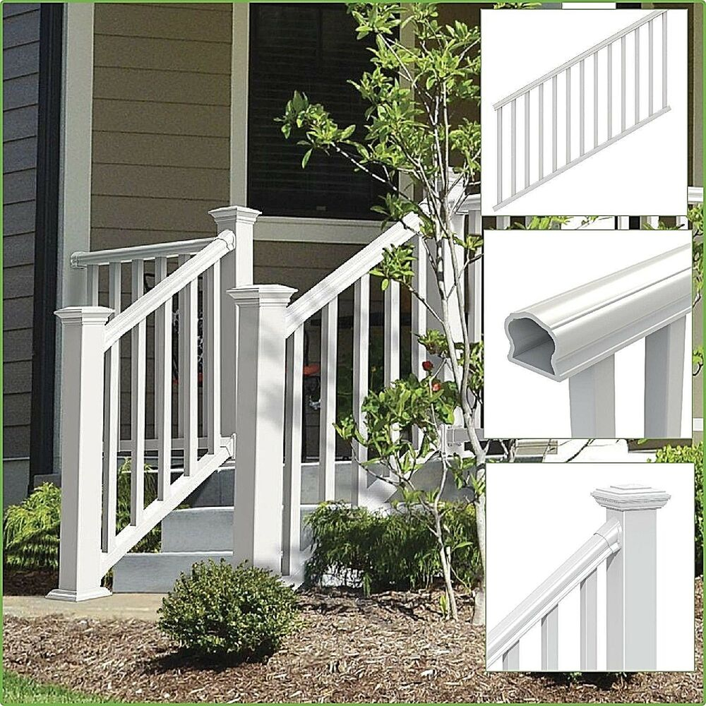 Stair Railing Kit Traditional Veranda Durable Handrail Vinyl Porch with measurements 1000 X 1000