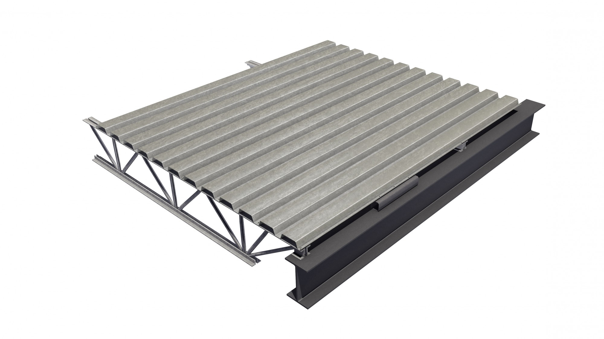 Steel Deck Is A Cold Formed Corrugated Steel Sheet Canam Buildings in proportions 2000 X 1125