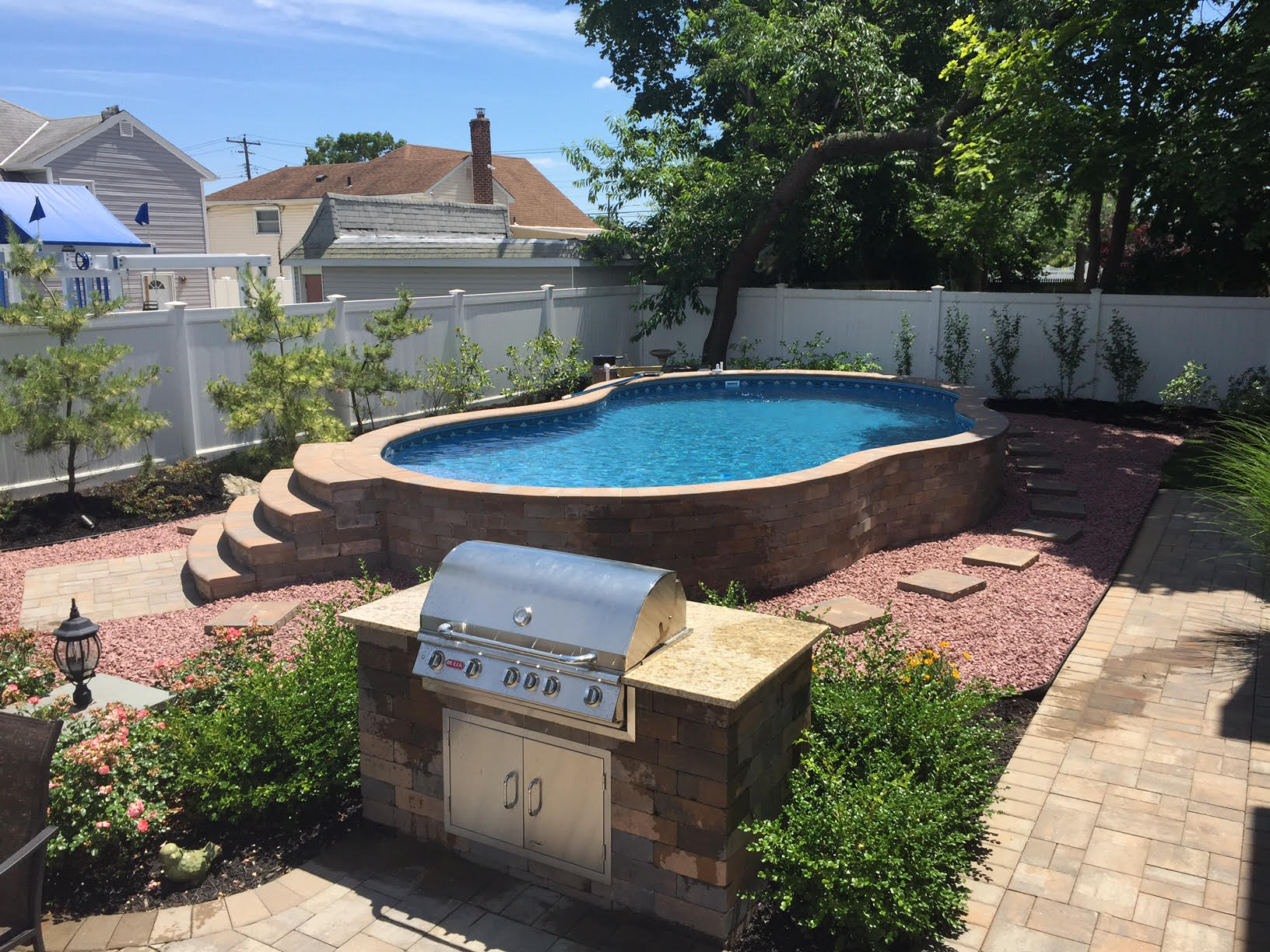 The Best Semi Inground Pool Nashville Pool Company with regard to proportions 1632 X 1224