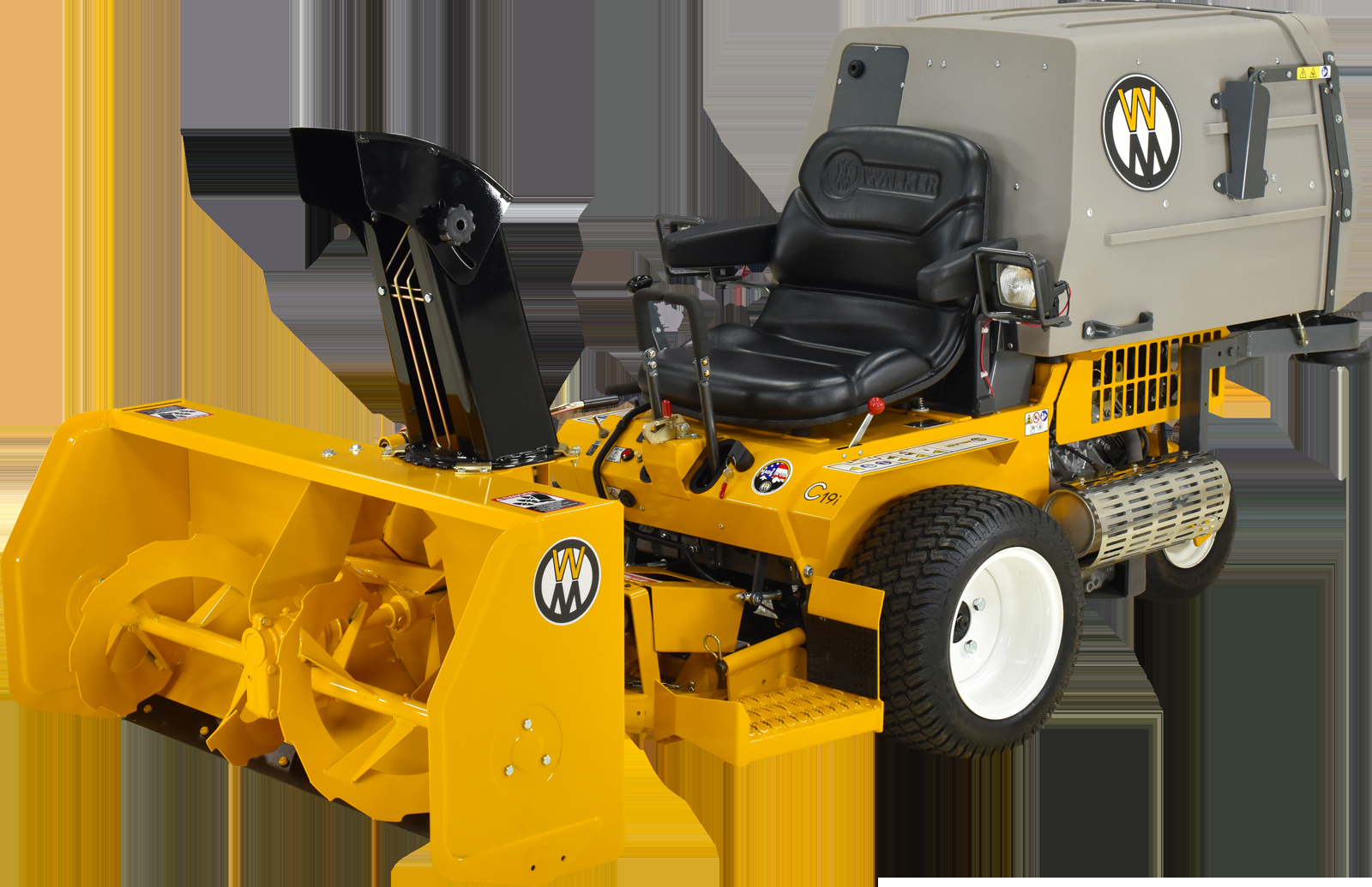 The Walker H12 Two Stage Snowblower for sizing 1600 X 1035