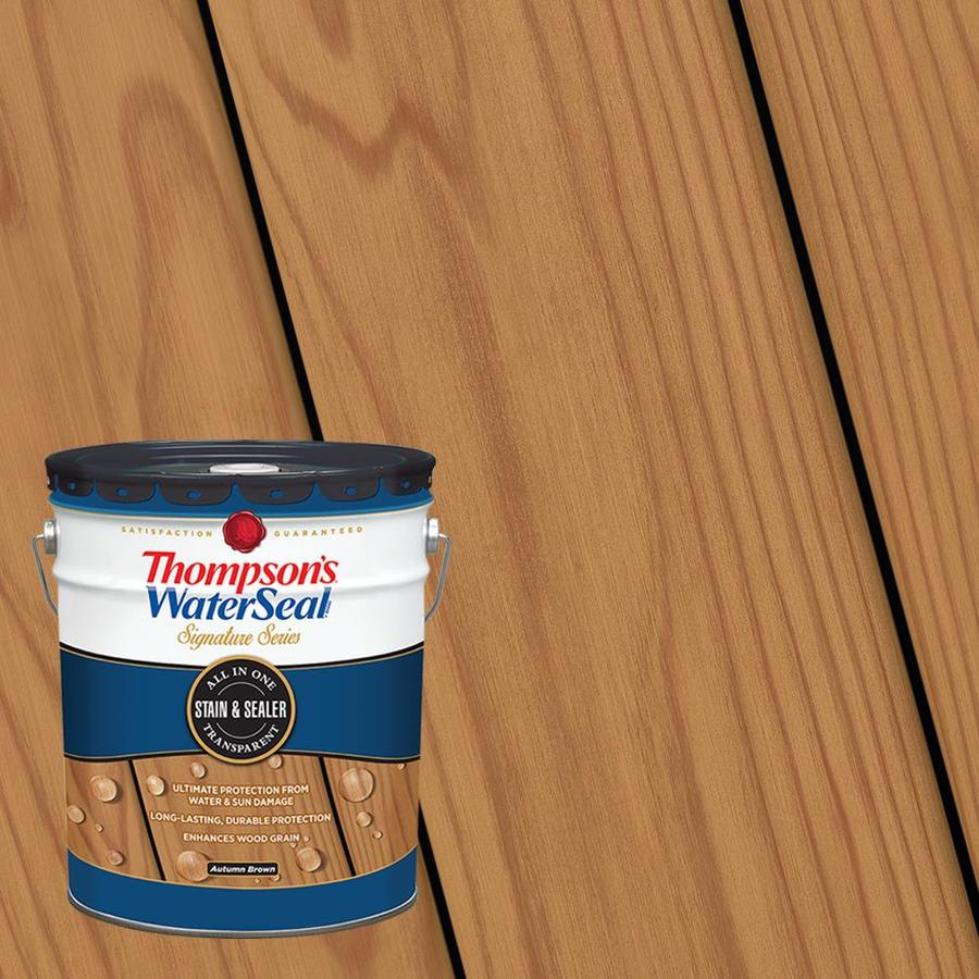 Thompsons Waterseal Signature Series Pre Tinted Autumn Brown pertaining to measurements 900 X 900