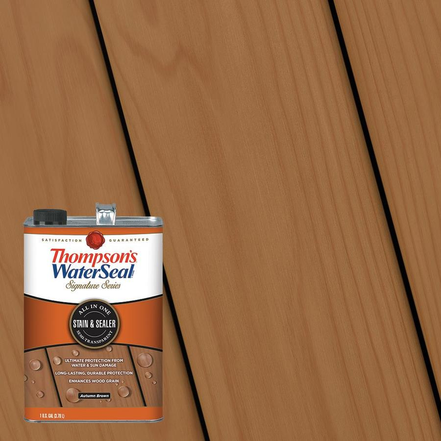 Thompsons Waterseal Signature Series Pre Tinted Autumn Brown Semi regarding dimensions 900 X 900