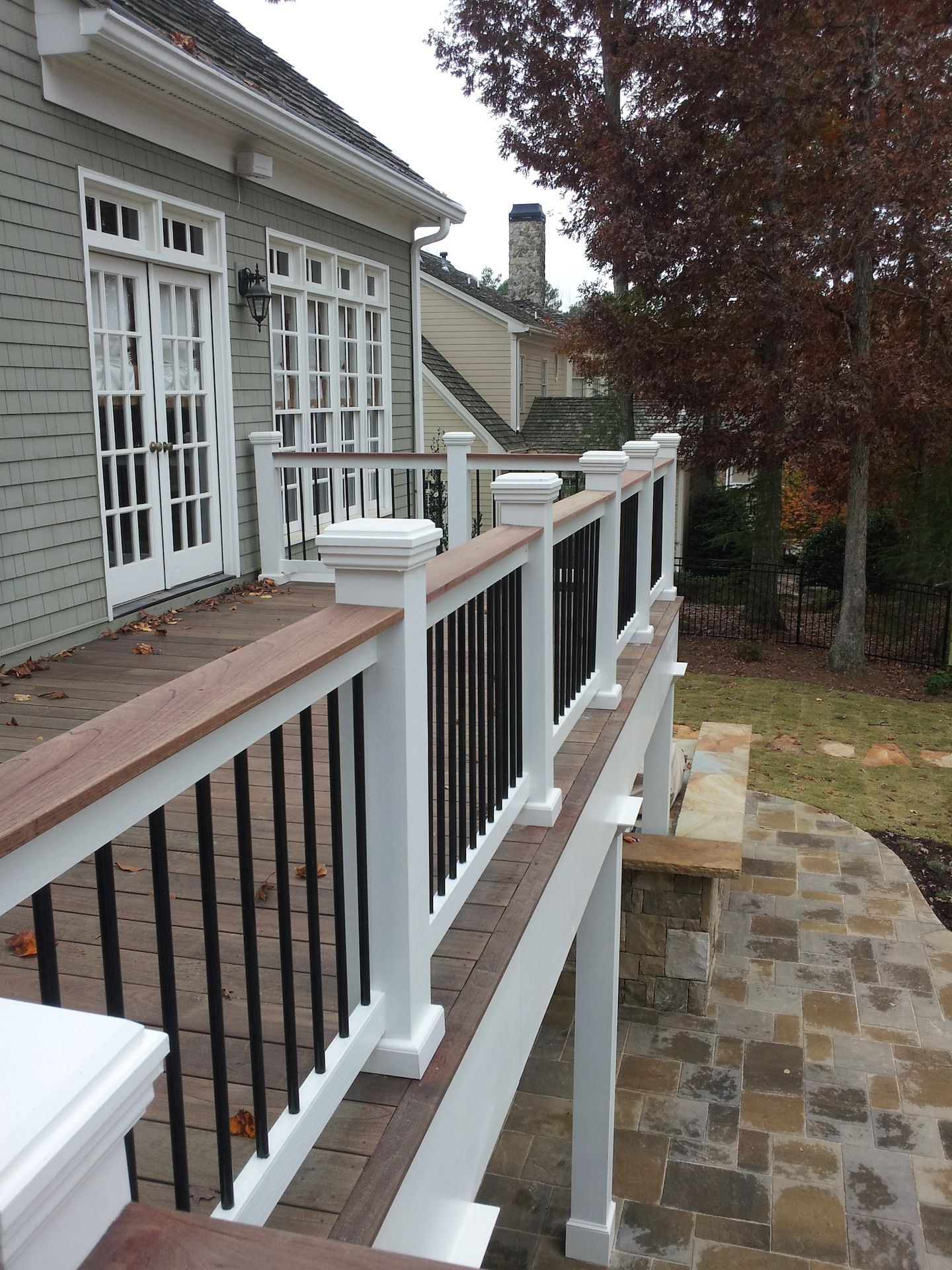 Two Tone Or Three Tone Deck Rails Can Tie It All Together When It inside proportions 1440 X 1920