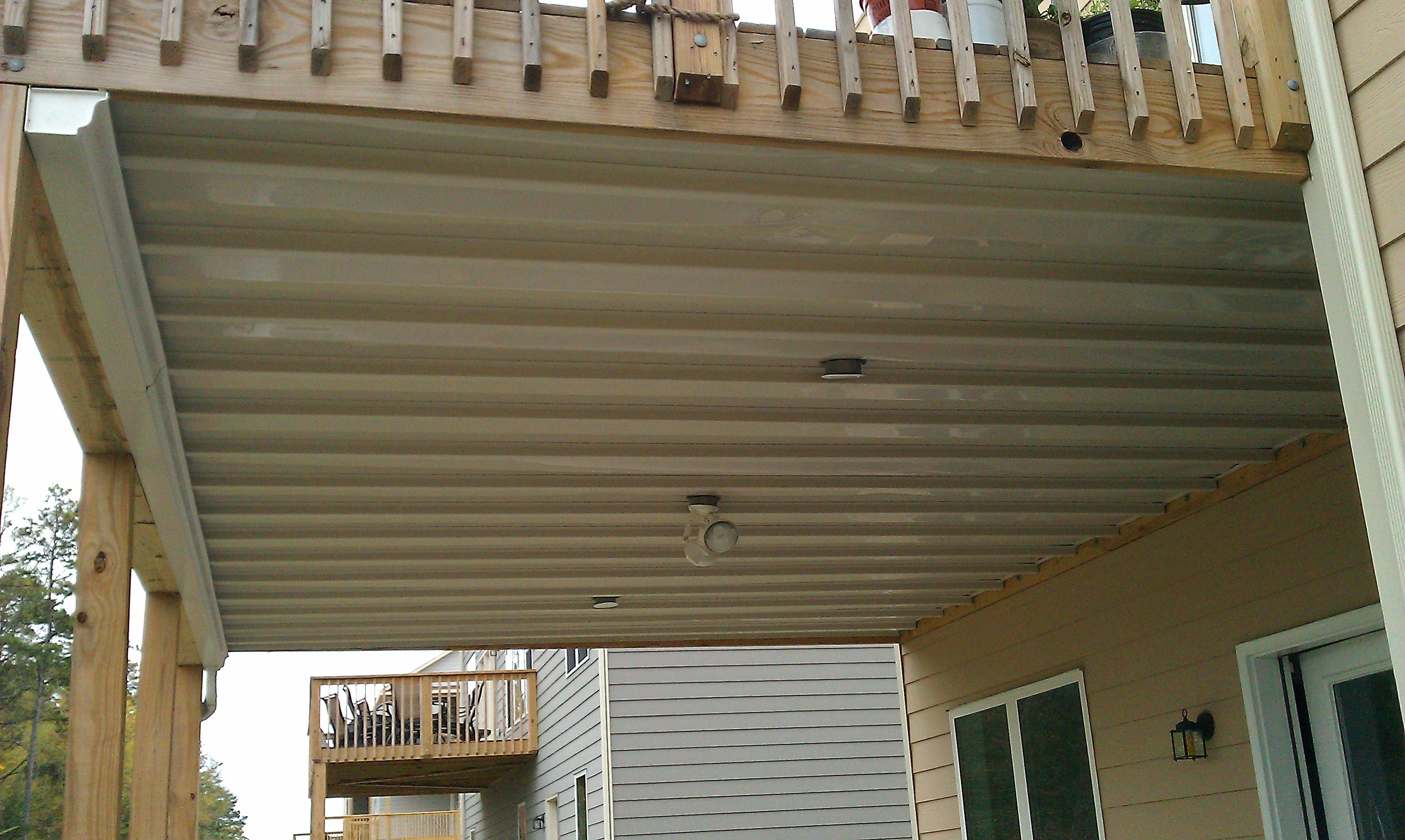 Under Deck Ceiling System Dryspace In 2019 Under Deck Ceiling intended for sizing 3264 X 1952