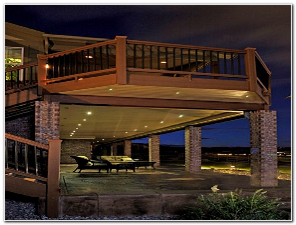 Under Rail Deck Lighting Ideas Decks Home Decorating Ideas with proportions 1036 X 786
