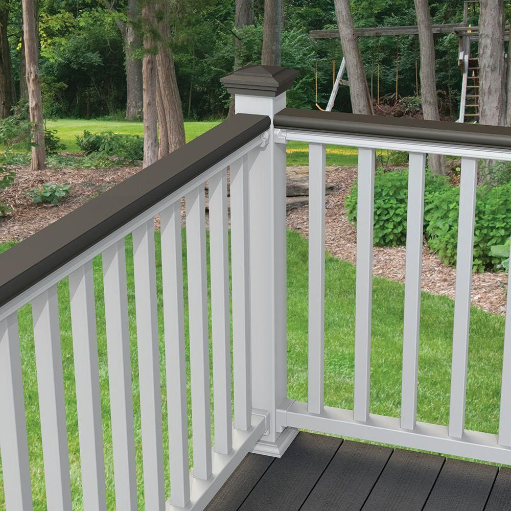 Veranda 8 Ft Nantucket Gray Decorative Rail Cover For Use With within size 1000 X 1000