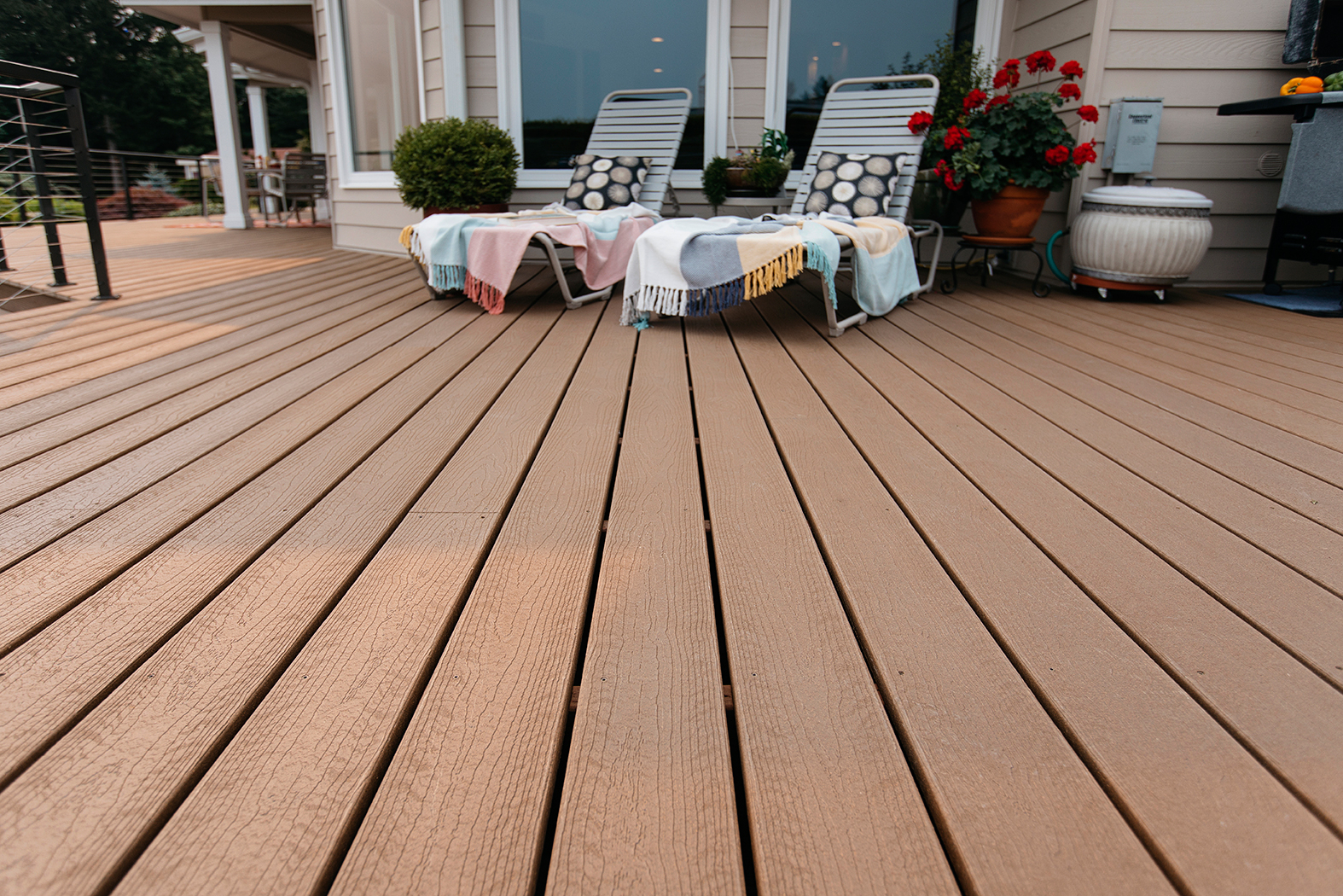 Weathered Wood Tamko Envision Decking intended for dimensions 1574 X 1050