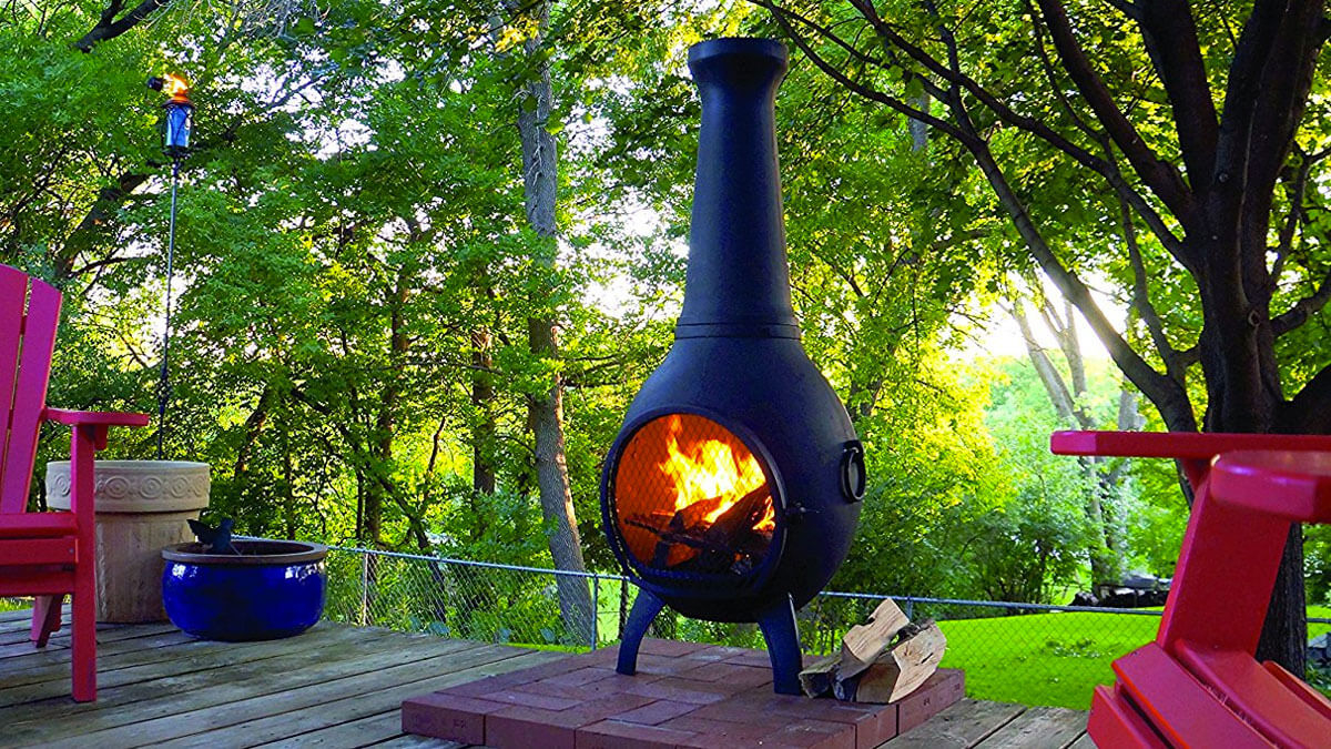 Wood Burning Chiminea Outdoor Fire Pit Dudeiwantthat intended for dimensions 1200 X 675