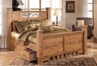 Bittersweet Poster Bedroom Set With Underbed Storage In Pine Grain with measurements 1280 X 1024