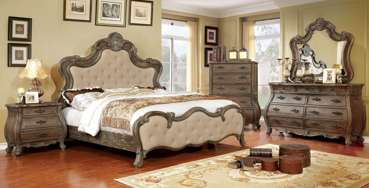 Gallery Furniture King Bedroom Sets Cheapest Cursa Rustic Natural inside measurements 1280 X 652