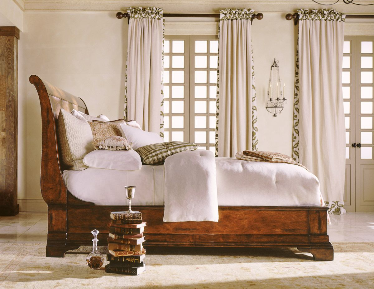 Henredon Cavalier Sleigh Bed Bedroom Beautiful Bedrooms Sleigh inside sizing 1200 X 925