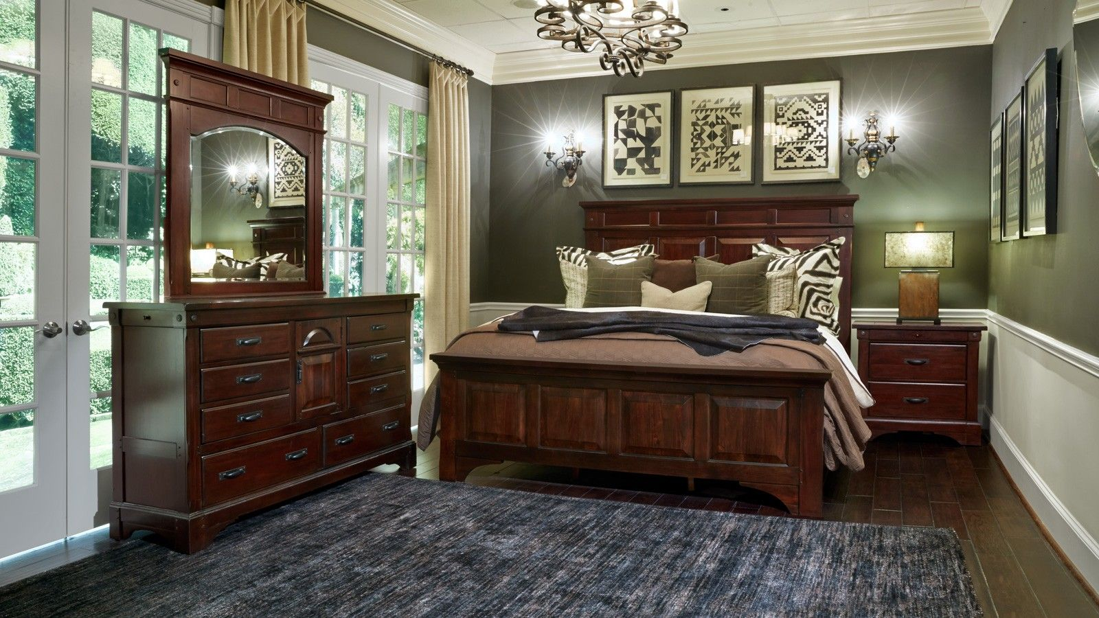 Kalispell 3 Piece King Bedroom Set Aamerica Gallery Furniture with regard to size 1600 X 900