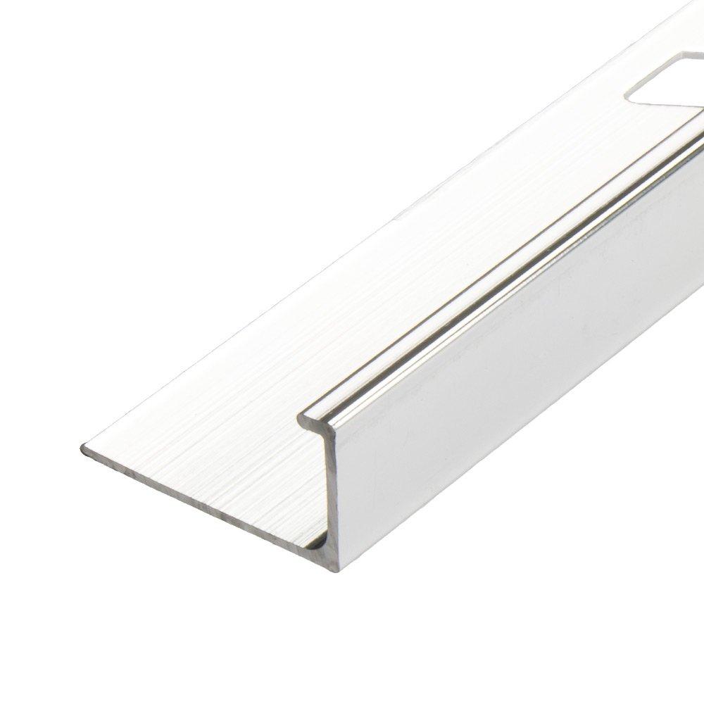 Aluminium Chrome Square Edge Tile Trim Tiling Supplies Akua Tile pertaining to dimensions 1000 X 1000