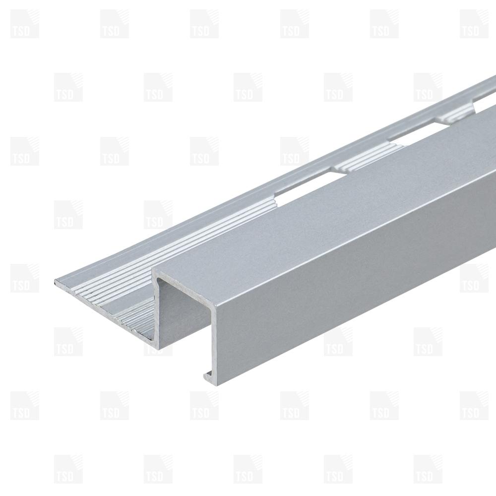 Aluminium Matt Anodised Square Box Section Tile Trim for size 1000 X 1000