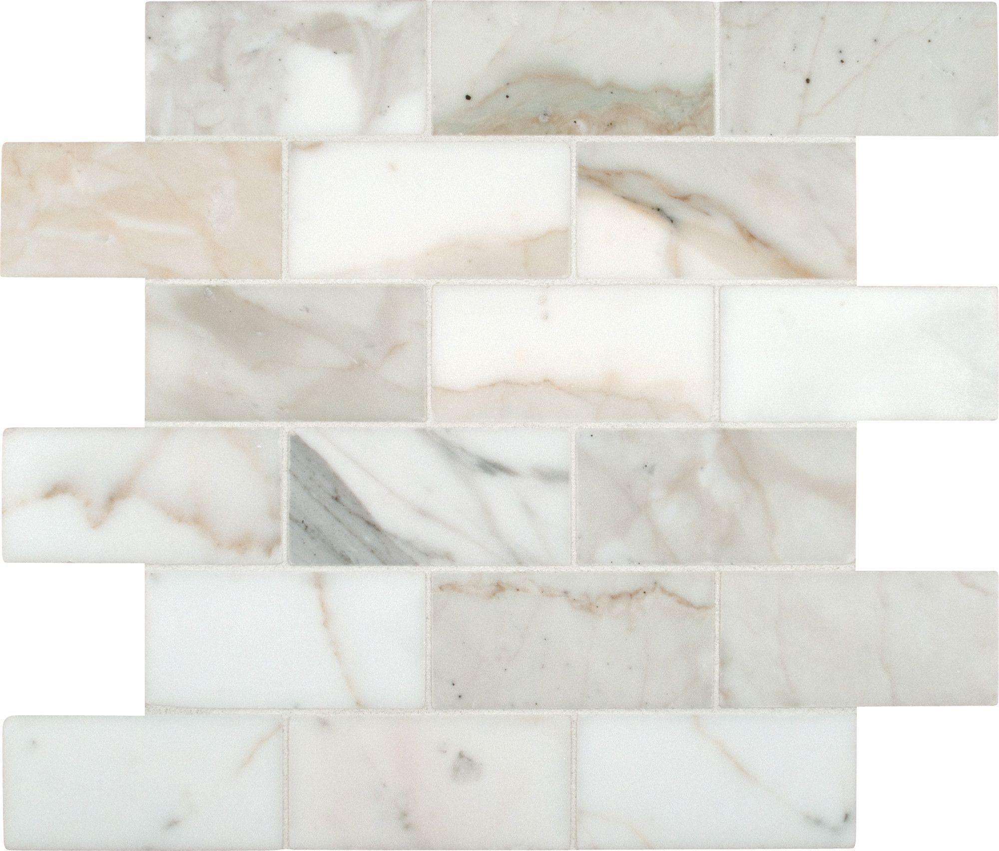 Calacatta Gold 2 X 4 Marble Mosaic Tile Marble Subway regarding size 2000 X 1704