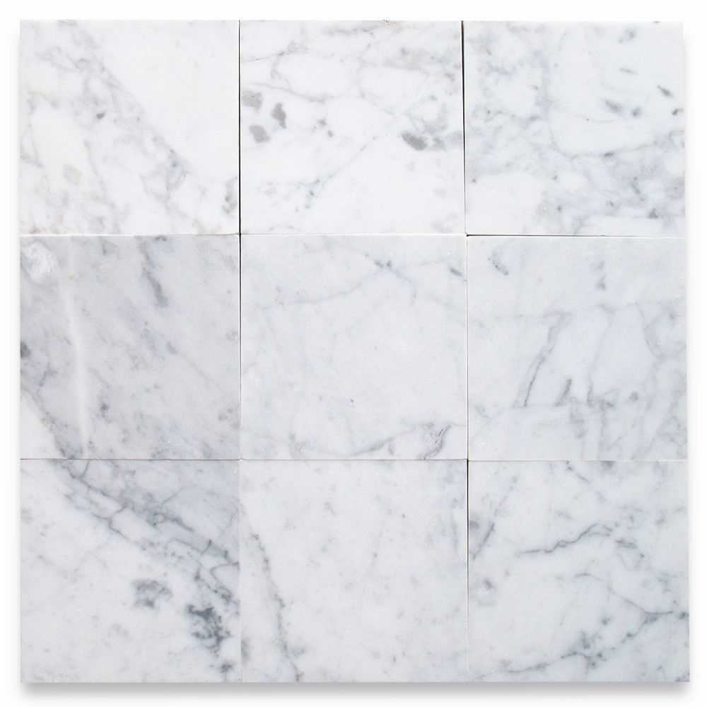 Carrara White 6x6 Tile Polished Marble From Italy inside proportions 1000 X 1000