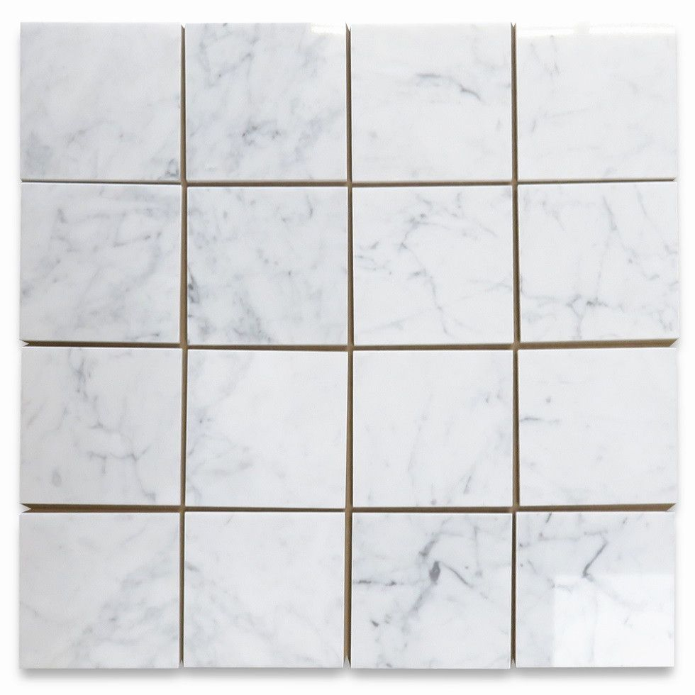 Carrara White 6x6 Tile Polished Marble From Italy throughout proportions 980 X 980