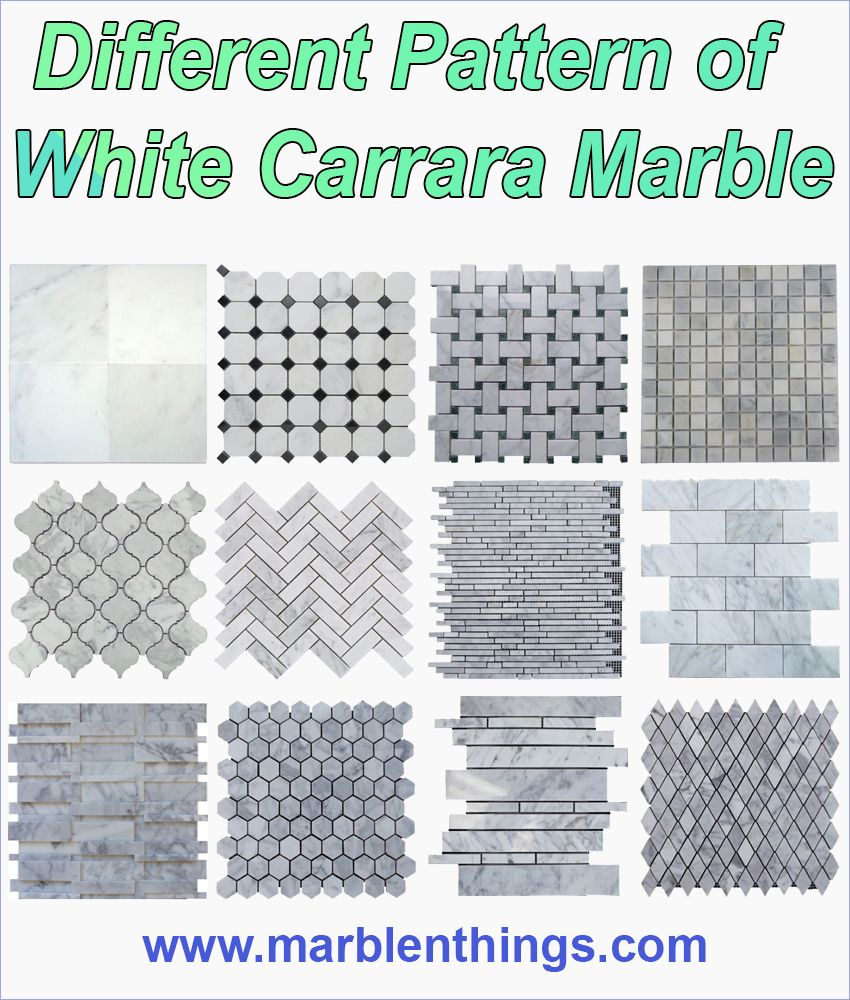 Different Type Of White Carrara Marble Mosaic Tile For Your for size 850 X 1000