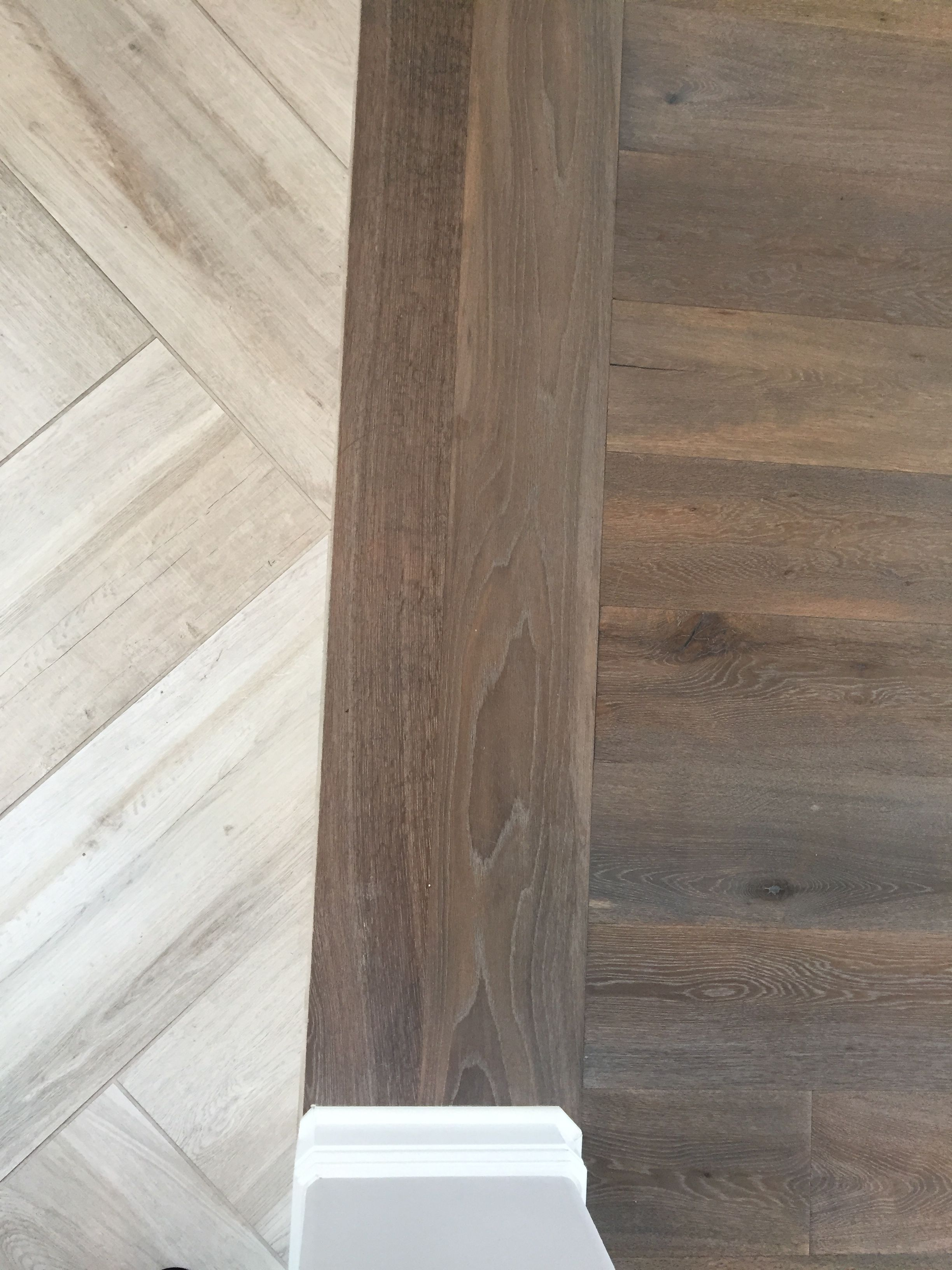Floor Transition Laminate To Herringbone Tile Pattern throughout size 2448 X 3264