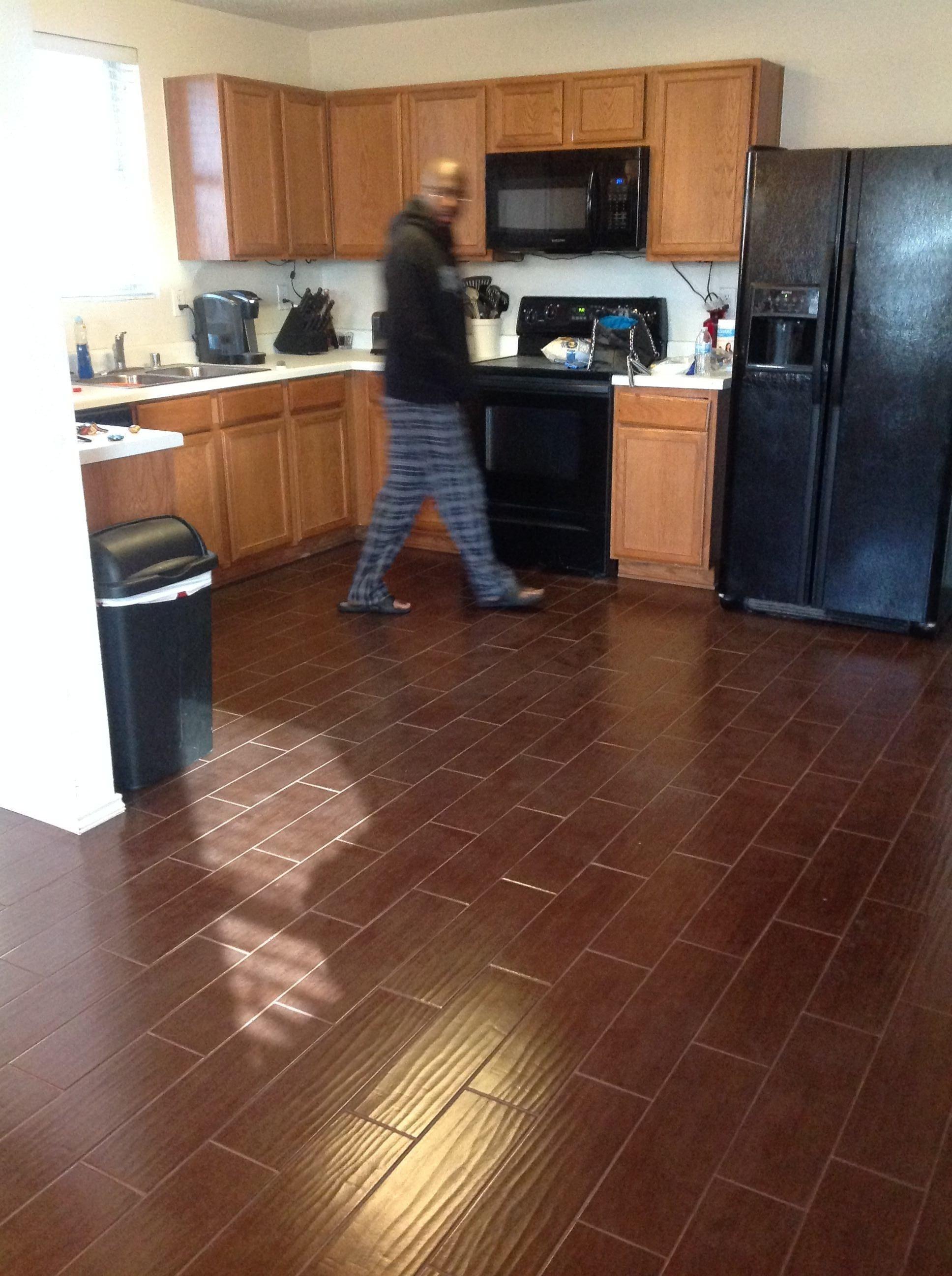 New Wood Floors In Kitchen Vs Tile Floating Wood Floor Over Tile inside proportions 1936 X 2592