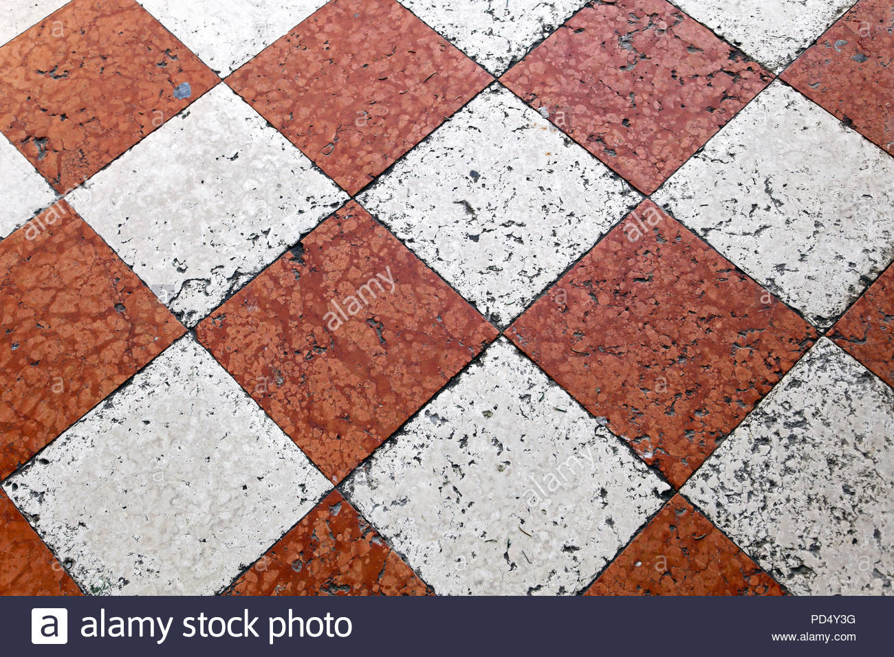 Orange And White Marble Floor Tiles In Venice Stock Photo with proportions 1300 X 956