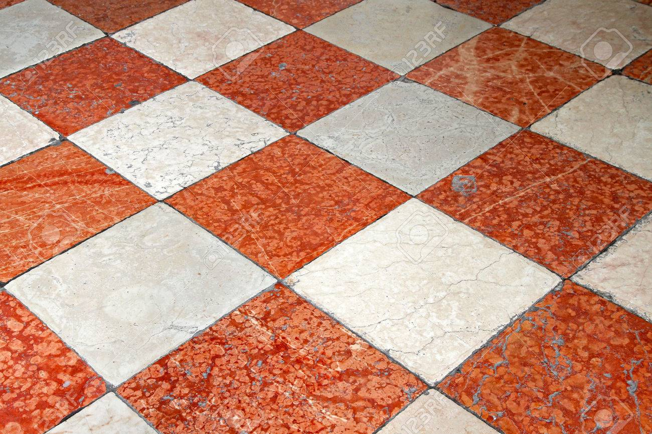 Red And White Marble Floor Tiles for measurements 1300 X 866