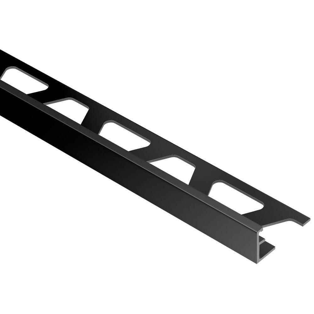Schluter Jolly Bright Black Anodized Aluminum 14 In X 8 Ft 2 12 In Metal Tile Edging Trim pertaining to measurements 1000 X 1000