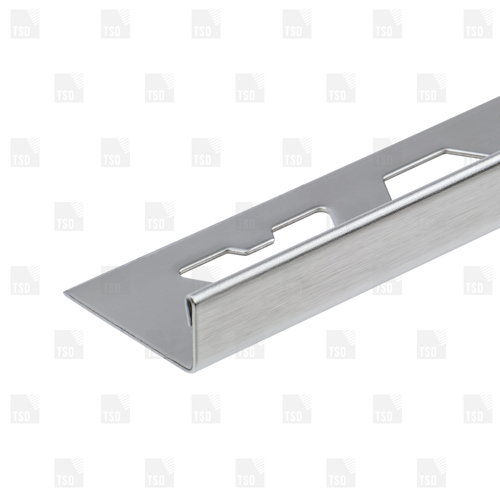 Stainless Steel Brushed Square Edge Tile Trim pertaining to dimensions 1000 X 1000