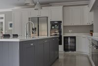 Stunning Hand Painted Shaker Kitchen Silestone Quartz Work in measurements 2592 X 3888