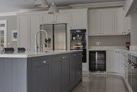 Stunning Hand Painted Shaker Kitchen Silestone Quartz Work in measurements 2592 X 3888