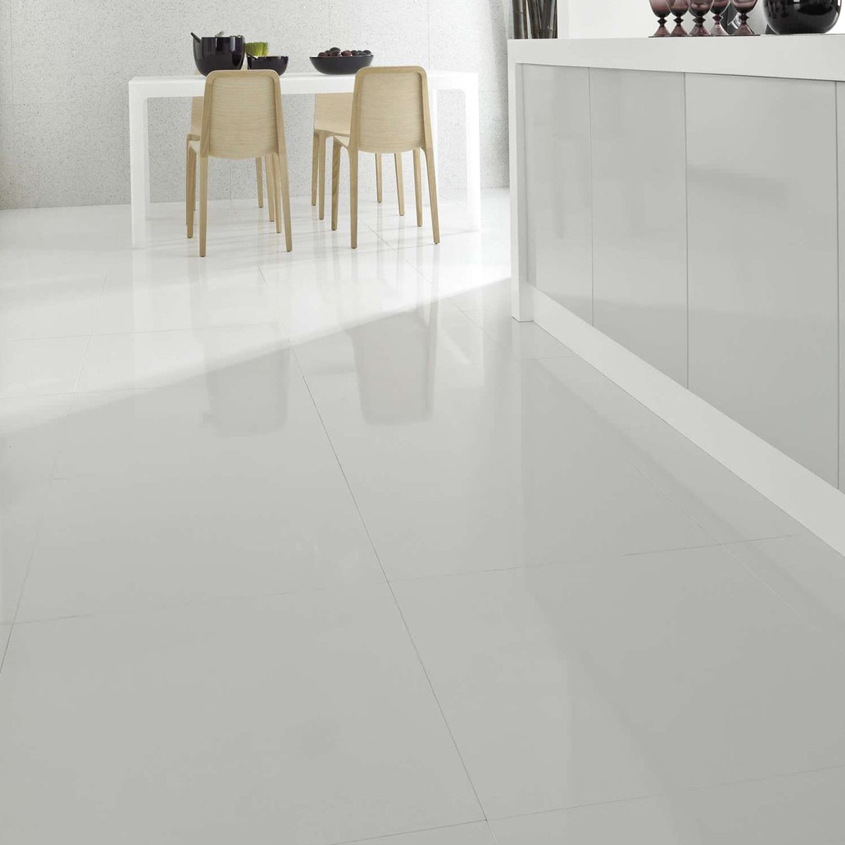 Supreme White Polished Porcelain Floor Tiles regarding dimensions 1200 X 1200