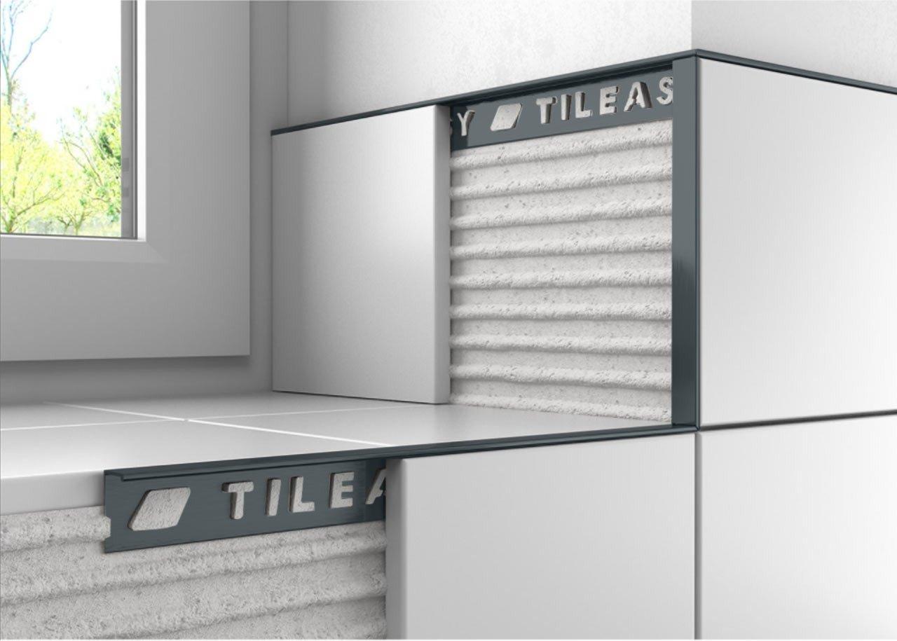 Tileasy 10mm Cobalt Grey Square Edge Metal Tile Trim Cgat10 regarding proportions 1280 X 915